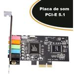 Placa De Som 5.1 PCI-E - Empire