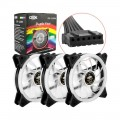 Cooler Dex RGB com Controle Kit com 3 Fans + Fita de Led - DX-123W