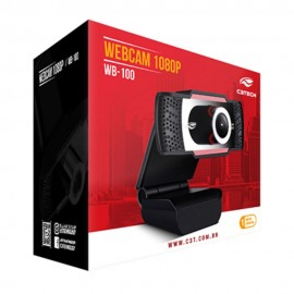 Webcam C3Tech Full Hd 1080p WB-100BK Com Microfone
