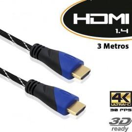 Cabo HDMI 1.4 M-M 3M C/Malha - Empire