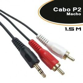 Cabo P2 Macho P/2 Rca Macho 1.5mts - Empire