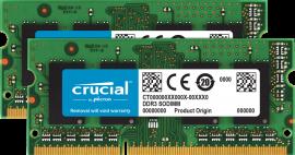 Memória Crucial  8GB Kit (2 X 4G) DDR3 1600 SODIMM P/MAC CT2K4G
