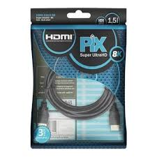 Cabo HDMI 1.5MT 2.1 Gold 8K Ultra HD e HDR Dinamiico Pix 018-1015