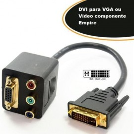 Adaptador DVI Para VGA e Video Componente - Empire