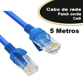 Patch Cord CAT6 com 5 Metros - Empire