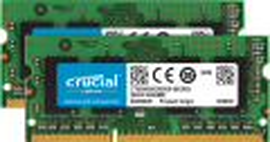 Memória Crucial 16GB Kit (2 X 8G) DDR3 1600 SODIMM P/MAC CT2K8G