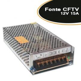 Fonte para CFTV / FITA LED / ELETRONICA 12V 15A - Empire