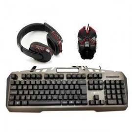 Kit Teclado Mouse Headset Gamer USB Iluminado Inova*