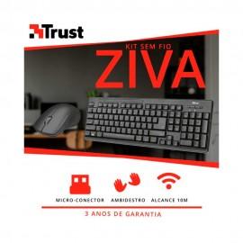 Teclado e Mouse Sem Fio Trust Ziva T22542