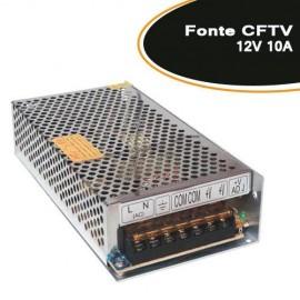 Fonte para CFTV / FITA LED / ELETRONICA 12V 10A - Empire