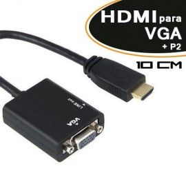 Adaptador HDMI para VGA + Audio - Empire - PROMOÇÃO SOMENTE PARA O SITE