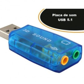 Placa de Som USB 5.1 - Empire