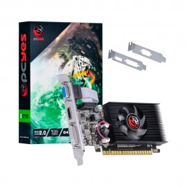 VGA GeForce 1GB GT210 Pcyes DDR3 64Bits Low Profile PA210G6401