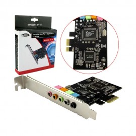 Placa de Som PCI-Express  5.1 6 Canais  - DP-65