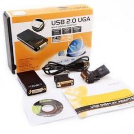 Adaptador de video USB 2.0 x VGA/DVI/HDMI Multi Display UGA