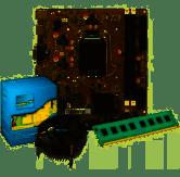 Mother Afox H81 IIH81-MA6-V2 + Proc I5 4570 + Cooler Intel