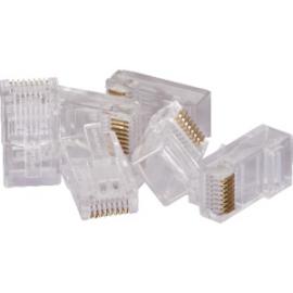 Plug Modular 8x8 RJ45 CAT6E Pacote com 100 pcs - RJ456M