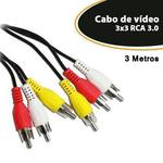 Cabo de Video 3x3 RCA 3 Metro - EMPIRE